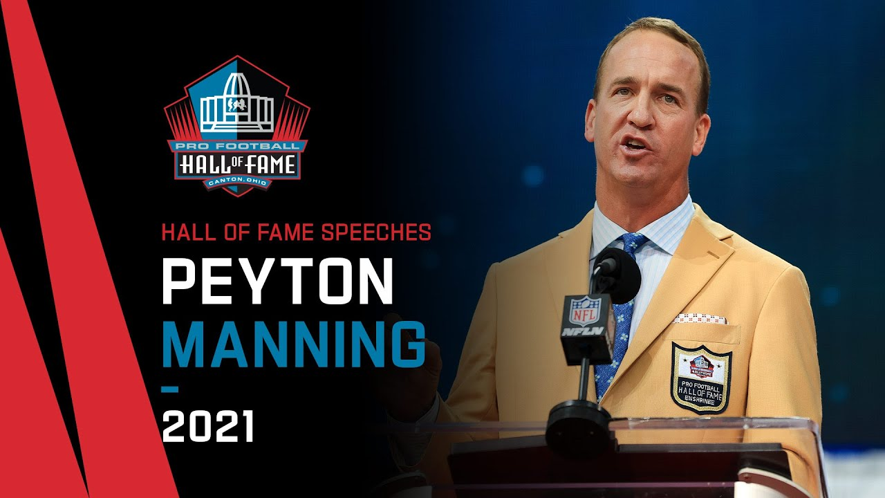 Download Peyton Manning Full Hall of Fame Speech   2021 Pro Football Hall of Fame   NFL