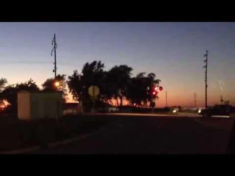 Beautiful Sunset Amtrak #392 Through Ashkum, IL!