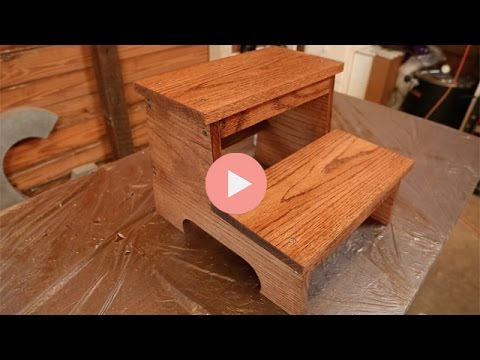 Diy Wooden Step Stool Youtube