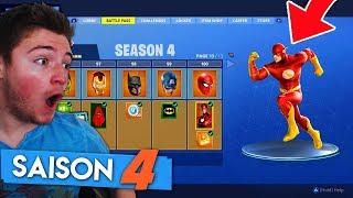 I BUY ALL the NEW SKINS of SAISON 4 FORTNITE! (Super Hero Skins)