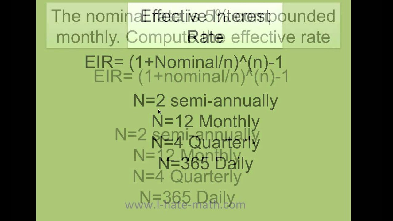bond and effective annual rate The effective annual rate (ear) is the rate of interest actually earned on an  investment or paid on a loan as a result of compounding the interest over a given .