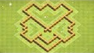 Clash of Clans NEW BEST Town Hall 5 Defense Strategy CoC Th5 Farming Base Village Layout 2015