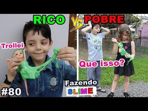 RICO VS POBRE FAZENDO AMOEBA / SLIME #80