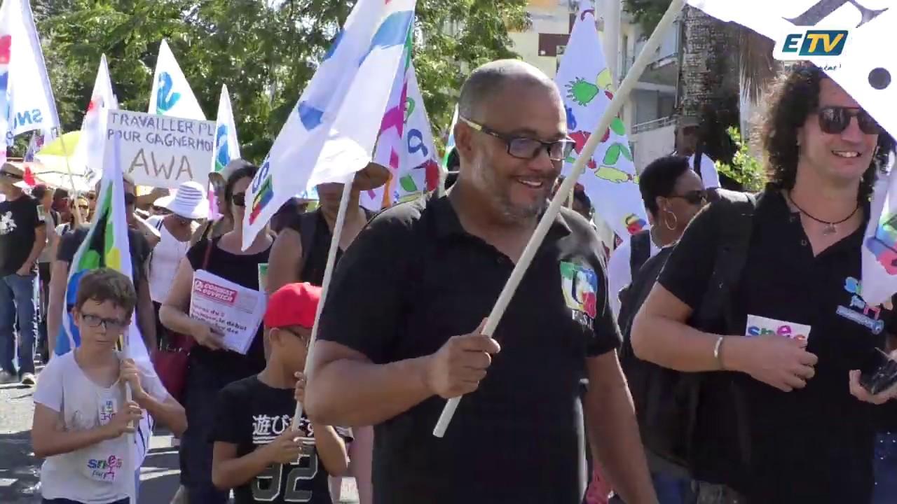 Près de 3000 guadeloupéens ont manifesté à Pointe-à-Pitre contre la réforme des retraites.