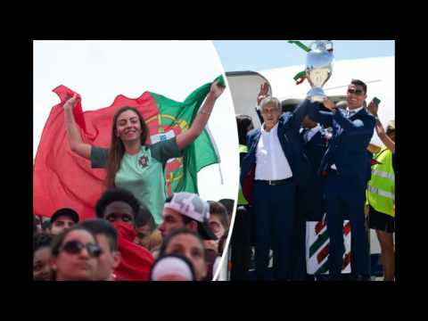 EURO 2016 NEWS - Cristiano Ronaldo and Portugal squad given heroes' welcome on return to Lisbon