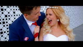 красно-белая свадьба Антона и Ольги