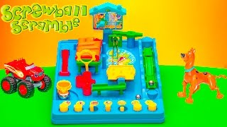 SCREWBALL SCRAMBLE Game Scooby Doo and Blaze Play Screwball Scramble Mousetrap Game Video Unboxing