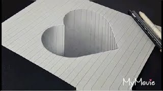 3d Heart paper Painting