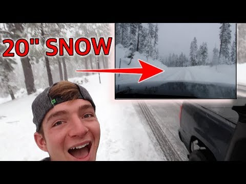 Day 1 South Lake Tahoe | Stuck in snow storm and lost John!