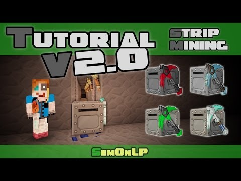 Tutorial - Stripmining - Mining Turtle V2.0 - Tekkit Lite (Computercraft) - [HD] [DE/GER]
