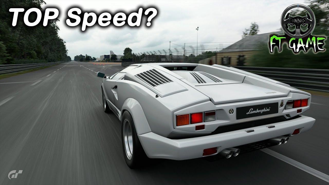 Lamborghini Countach 25th Anniversary On Top Speed Gran Turismo