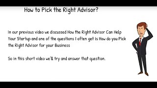 How to Pick the Right Advisor