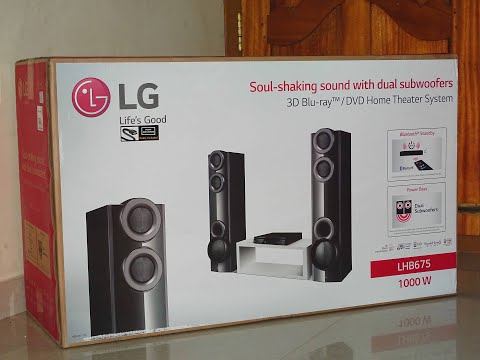 LG LHB675 XBOOM Home Theater System Unboxing