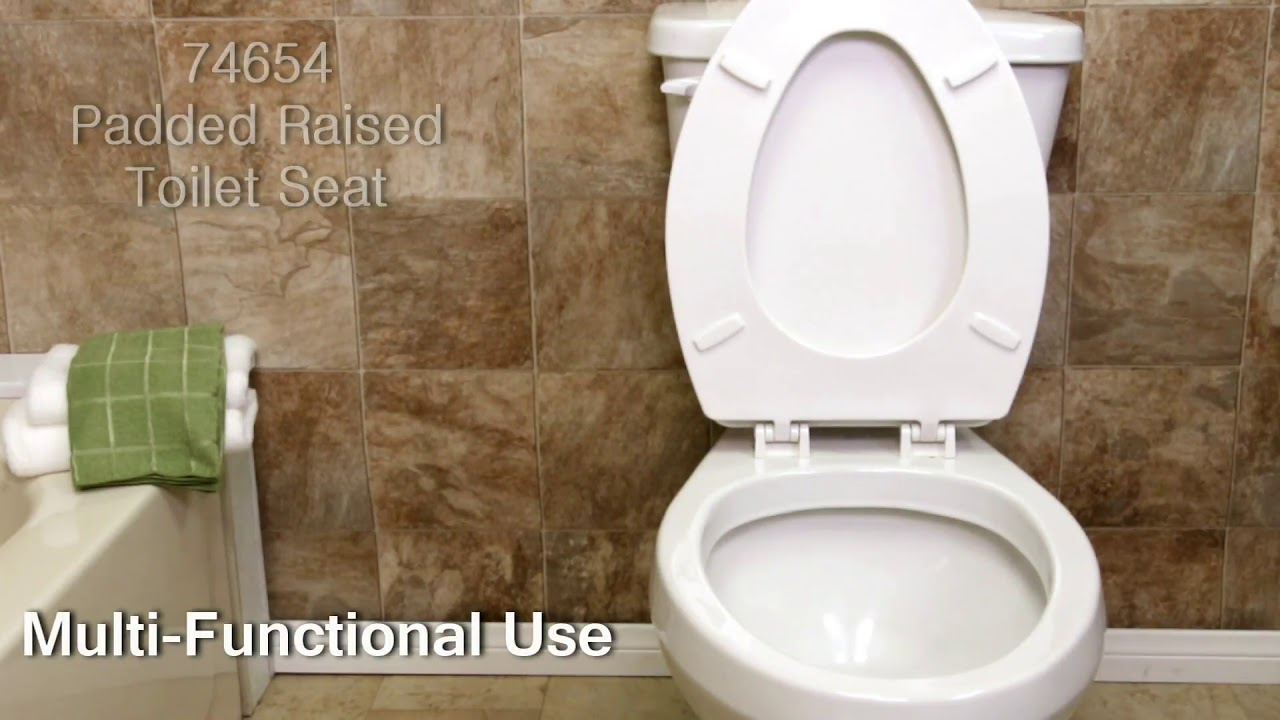 Eagle Health Padded Raised Toilet Seat Commode - YouTube
