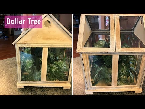 Dollar Tree Terrarium DIY  Farmhouse Shab Chic Terrarium Tutorial