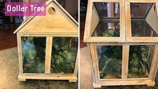 Dollar Tree Terrarium DIY | Farmhouse Shabby Chic Terrarium Tutorial