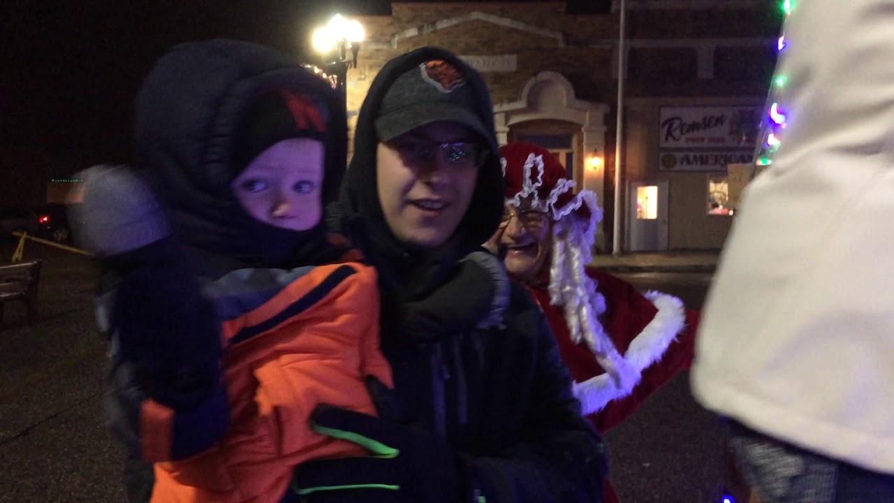 Mrs. Claus (Bonita Davison) of Le Mars, Iowa, talks Christmas in Remsen