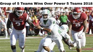 College Football: Group of 5 Teams Beating Power 5 Teams 2018 (Part 2)
