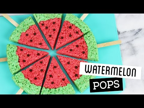 Download Youtube: How to Make Watermelon Rice Krispie Treat Pops!