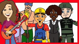 Jobs song, children song My Neighborhood, Learn Occupations   Jobs song for kids   Patty Shukla