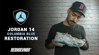 Vick Almighty Restores 1999 OG Columbia Blue Air Jordan 14s With Reshoevn8r!