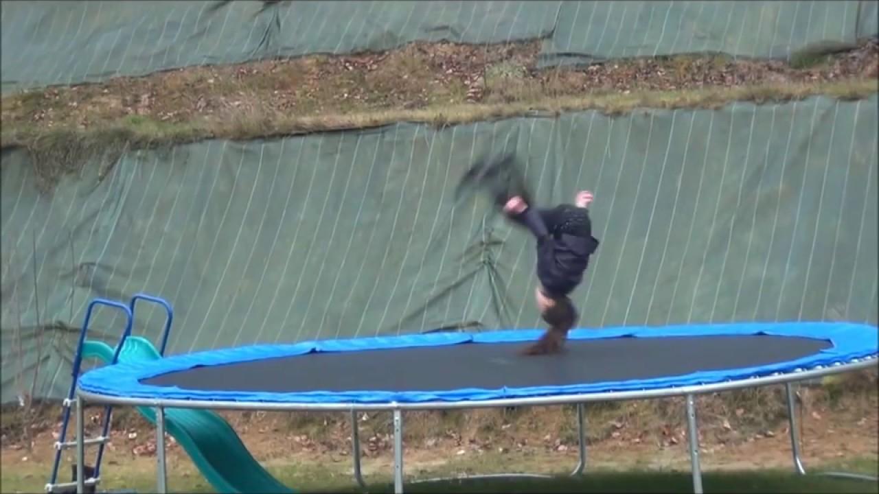 Agréable Video De Gym Dans Le Jardin #4: Gym Trampoline - Célia 8 Ans