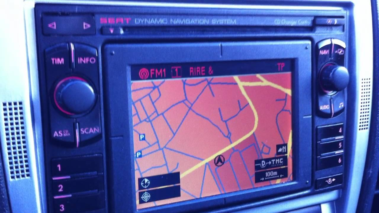 D mo gps sur leon 1m youtube for Mueble 2 din seat leon 1m