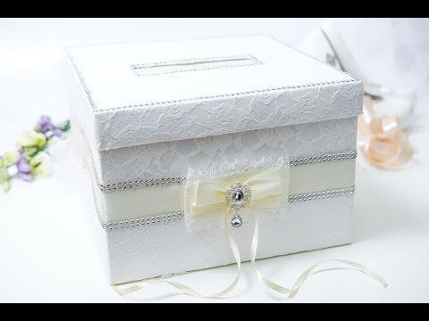 Как украсить свадебную коробку с подарком