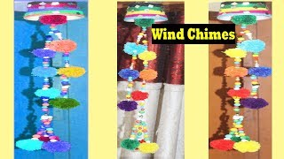 DIY Wind Chime -  How to Make Wind Chimes Out Of Woolen - Make Wind Chimes Using Woolen