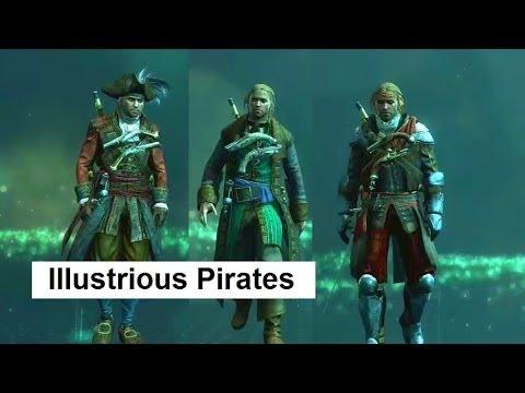 AC4 Illustrious Pirates DLC: Edward Kenway costumes, outfits, Jackdaw ship customization