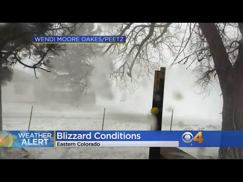 I-70 Closed During Blizzard On Eastern Plains