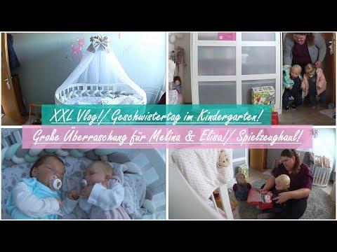 xxl-vlog!- geschwistertag-im-kindergarten!- geschenke-für-elisa-&-melina!-  -little-reborn-nursery