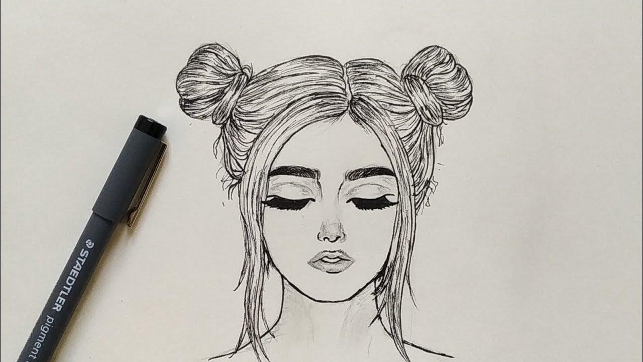 Como desenhar Garota Tumblr | COMO DIBUJAR UNA CHICA TUMBLR - YouTube