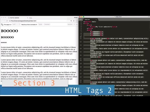 Part 3 (HTML) /// Lesson #4: HTML Tags 2
