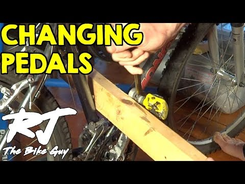 Changing Bike Pedals Stuck Pedal Youtube