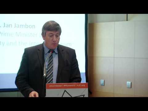 AJC Brussels  Jan Jambon speaks at conference