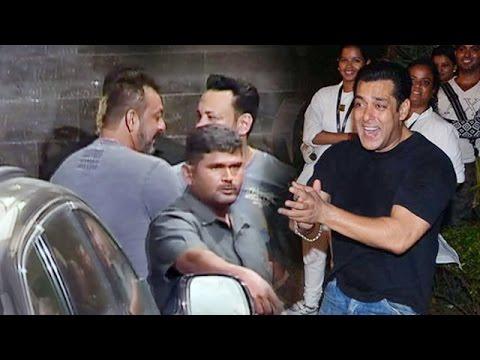 Sanjay Dutt At Salman Khan's Ganpati...