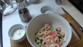 Готовим вместе. Белковый салат с креветками #правильноепитание