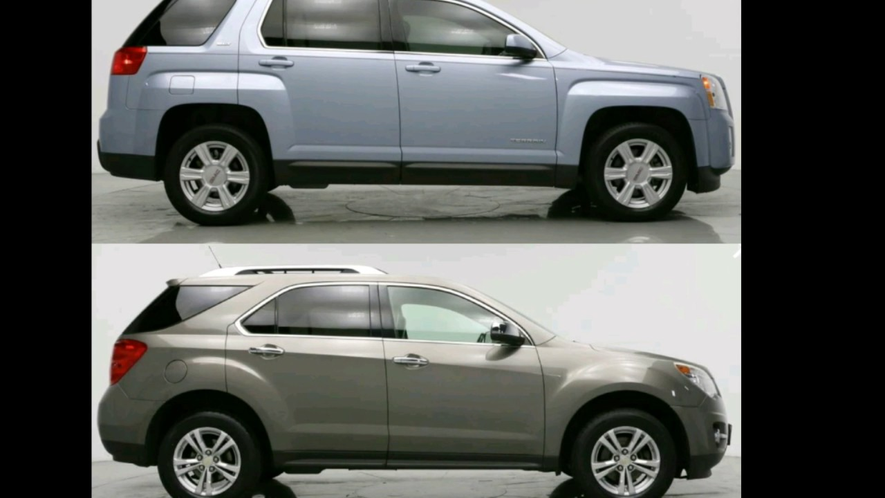 GMC Terrain vs CHEVY Equinox  YouTube