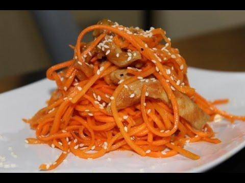 Готовим сами. Салат морковь с мясом по-корейски