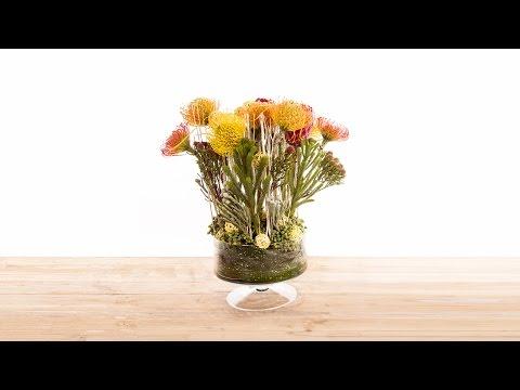 African Vase Arrangement | Flower Factor How To | Flower Arrangement