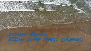 Indian Beach, Ecola State Park, Oregon (Drone 4K)