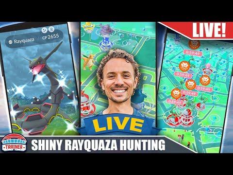 Download WE GOT THE SHINY! *LIVE* Shiny Rayquaza Hunting | Pokémon GO Live Stream