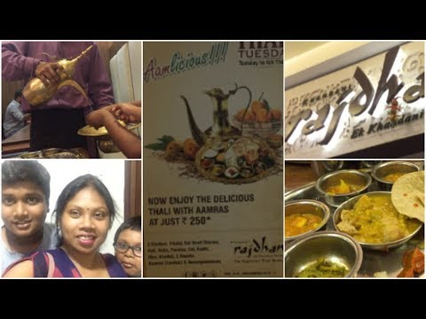 Dinner at Rajdhani restaurant in forum mall Hyderabad || may