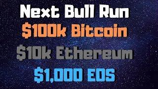 $100k BTC, $10k ETH & $1,000 EOS In The Next Bull Run