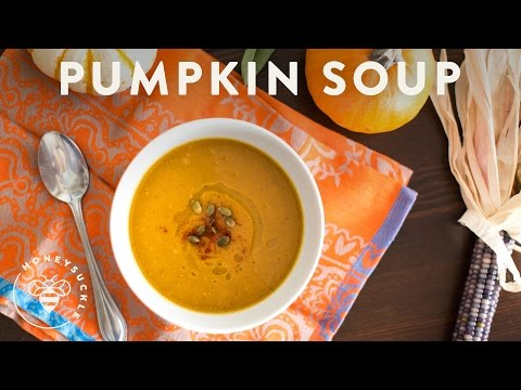 Roasted Pumpkin Soup - A Pumpkin Collaboration With Friends