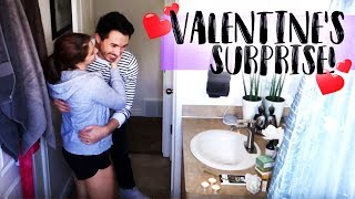 Husband Surprises Wife for Valentine's Day & Her Birthday!