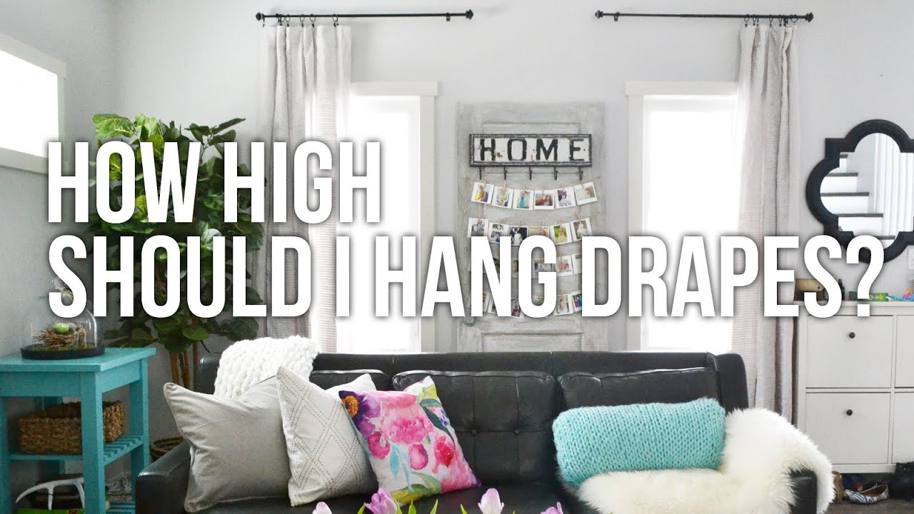 Tip Tuesday: How High Should I Hang Drapes? - YouTube