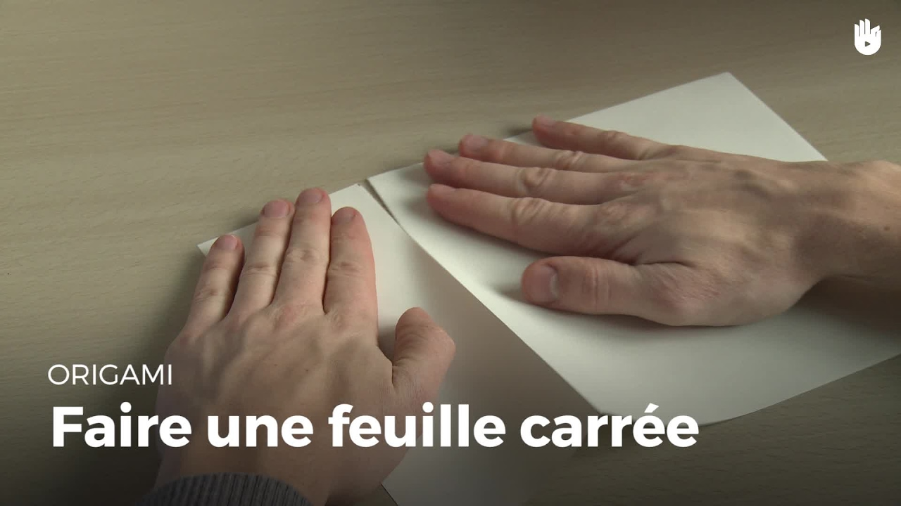 Feuille Carrée Origami Youtube