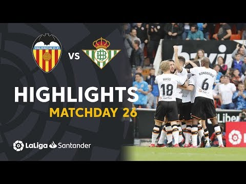Highlights Valencia CF vs Real Betis (2-1)